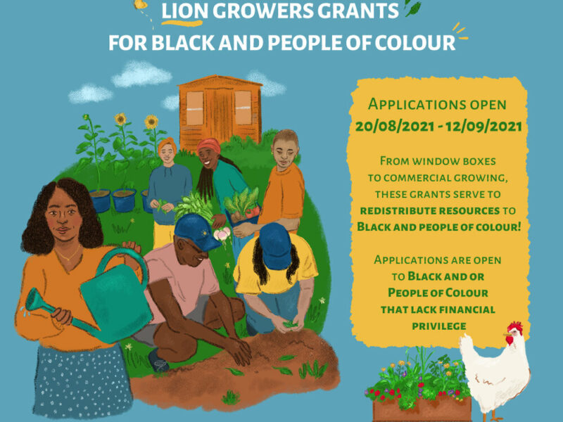 LION Growers Grant Scheme for Black and people of colour